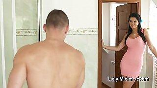 Scummy Milf Fucks Teases Hot Brunette Young Cock