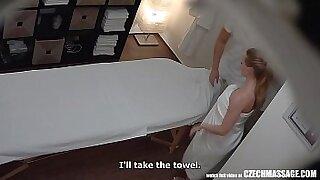 Busty teacher gives instructor massage