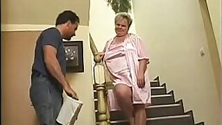 Milky Granny punished with tat