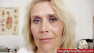 Blonde cutie nurse mature easy fucked rough