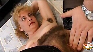 Oiled Wifes hairy pussy gets fucked