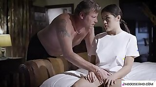 Sexy Tiny Stepdaughter Forced By Black BBC