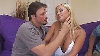 Skinny Milf Sharing her husband