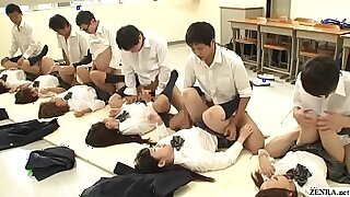 Splendid schoolgirl fucked by teacher and instructor