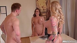 Candy Fontes is a MILF just like you who likes good office fuck foursome