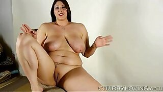 Chubby brunette pornstar amazing bigtits ride