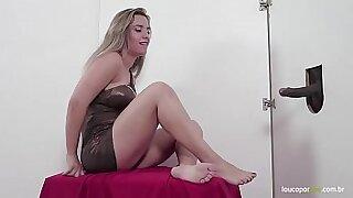 Cute Blonde foot fetish a red hot heat